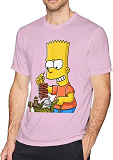 LiuYeWen Bart Simpson Men Limited Edition Short Sleeved T-Shirt Classic Black