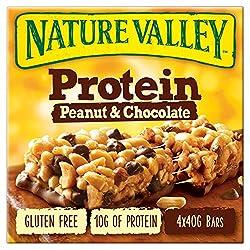 Nature Valley Peanut & Chocolate Bars, 4 x 40g