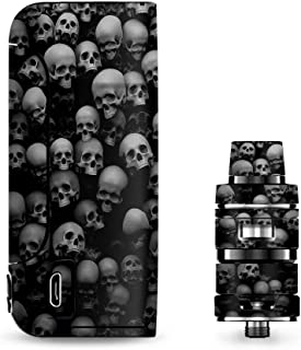 IT'S A SKIN Decal Vinyl Wrap for Vaporesso Armour Pro Cascade Tank Vape Sticker Sleeve/Black and White Skulls Stacked