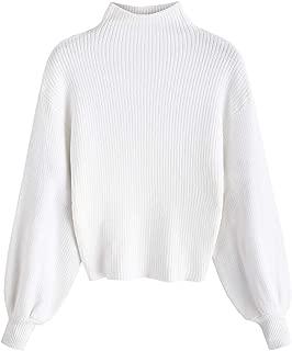 Best lantern sleeve mock neck sweater Reviews