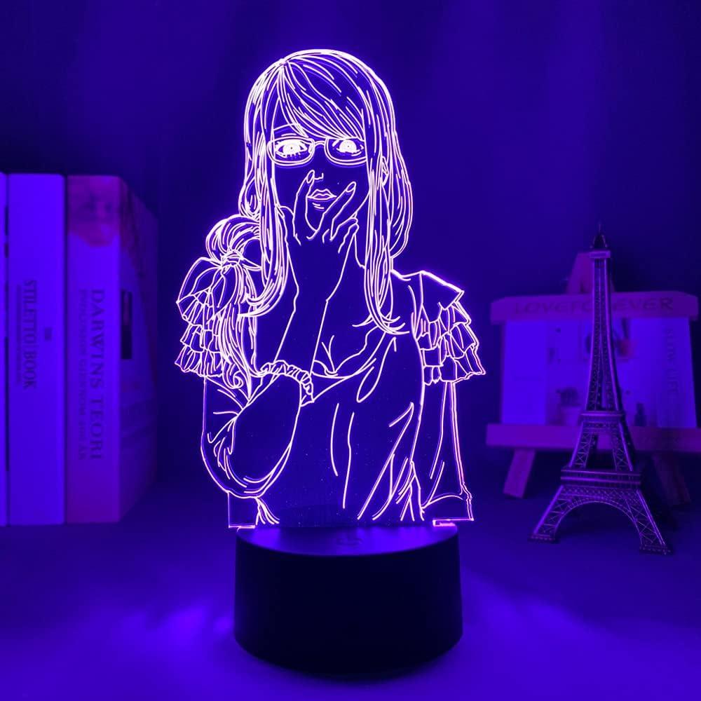 KMolly Tokyo Max 74% OFF Ghoul National uniform free shipping 3D Lamp Rize Anime Kamishiro Nightlight Girl