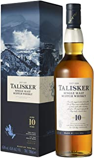 Talisker 10 Jahre Single Malt Scotch Whisky – Weicher, torfiger Whisky aus dem Norden Schottlands, 700ml