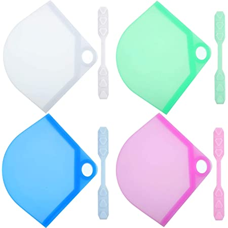 Azul, Verde, Rosa PACK de 6 Estuches Porta mascarillas Multicolor Caja para M/áscaras Reutilizable Almacenamiento a Prueba de Polvo Para Guardar M/áscara Desechable con 6 mascaras incluidas
