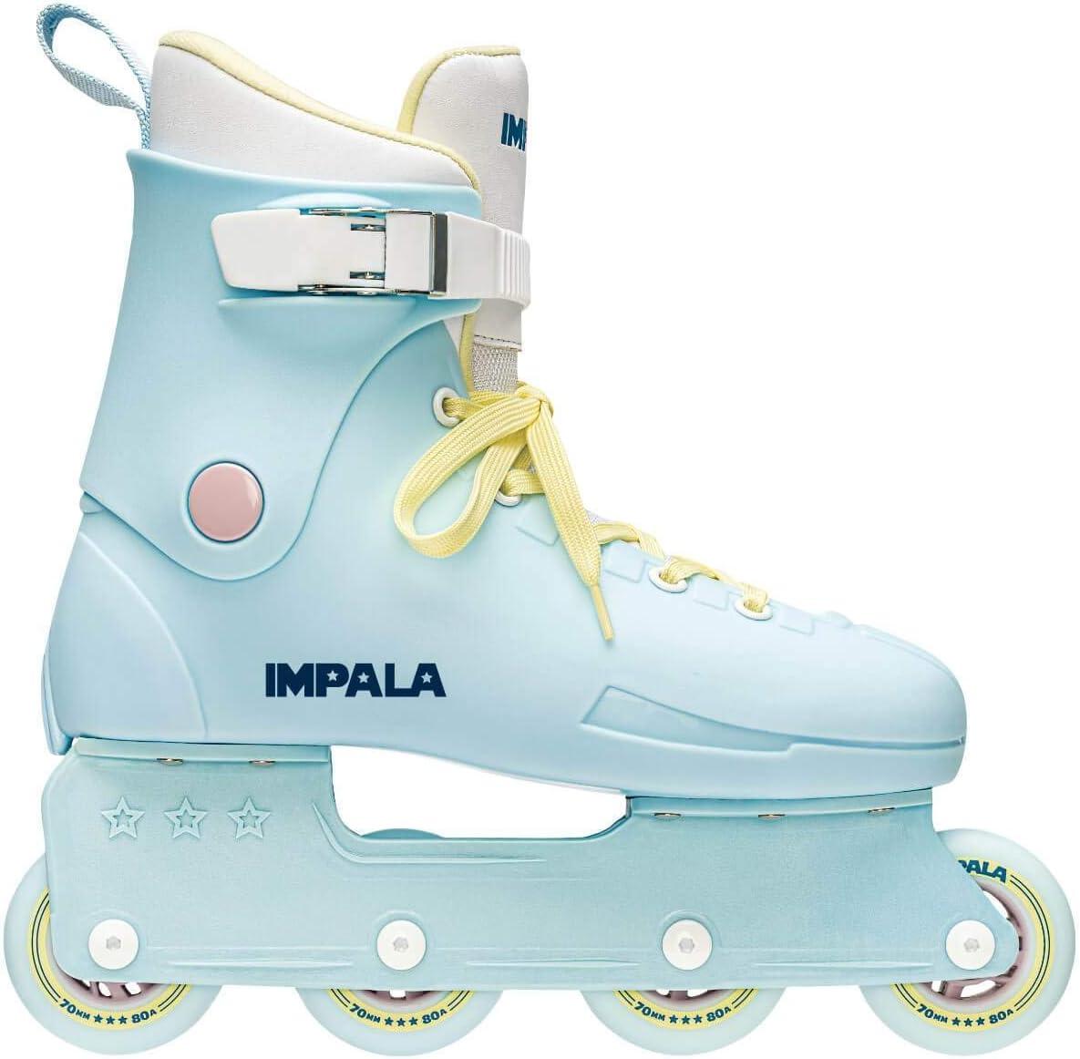 Impala Lightspeed Inline Skate - Sky Blue/Yellow : Sports & Outdoors