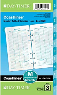 Day-Timer 2020 Monthly Planner Refill, 3-3/4