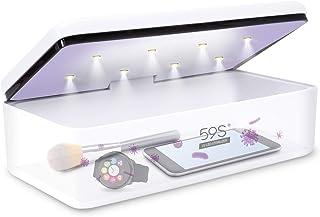 Esterilizador UV, 59S UV Esterilizador Caja LED con 8 Bolas Lámpara de Esterilización Rápida 99.9%, Adecuado para Teléfono...