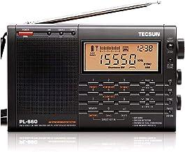 TECSUN PL-660 ブラック BCL 短波ラジオ FM/MW/SW/Air 日本語版説明書付属
