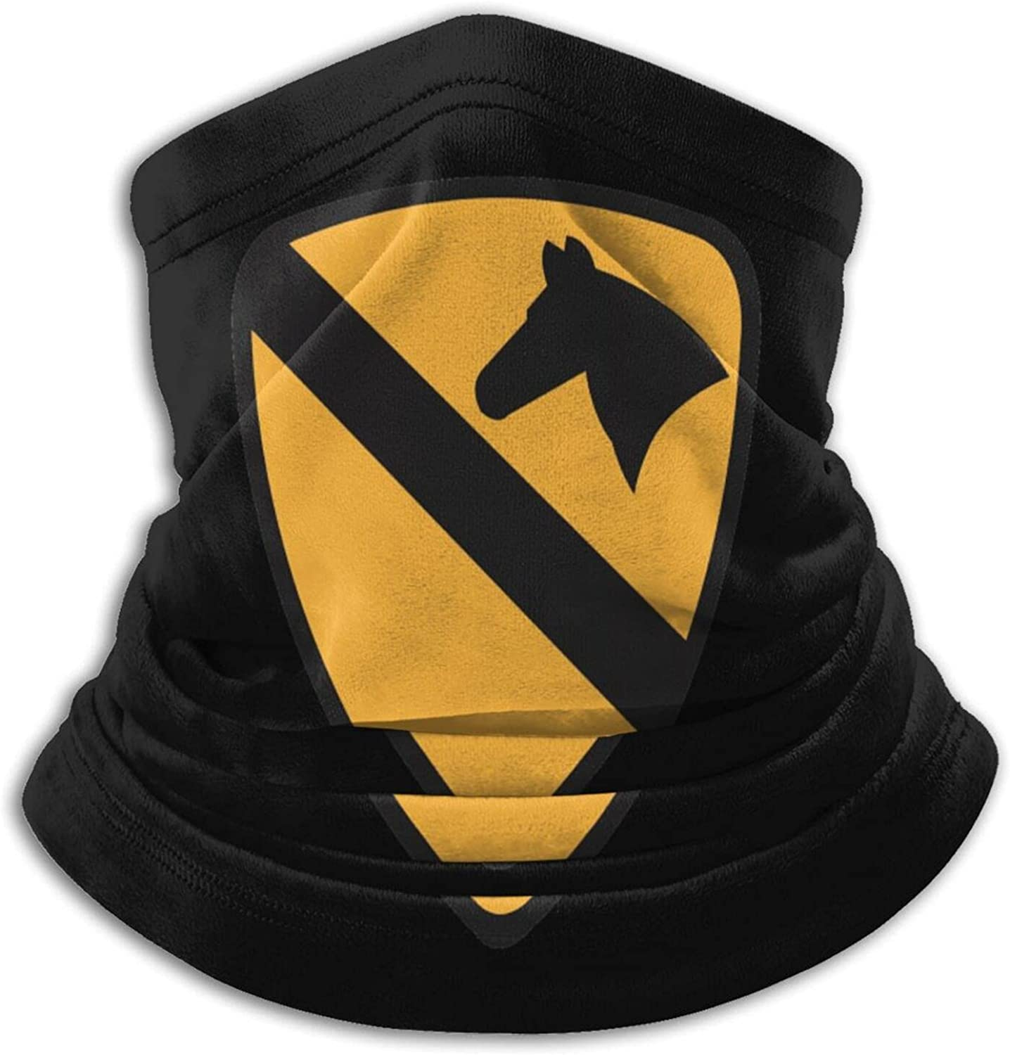 U.s army 1st cavalry division unisex winter neck gaiter face cover mask, windproof balaclava scarf for fishing, running & hiking
