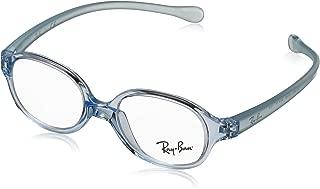 RAYBAN JUNIOR 儿童 1587 0RY 1587 3769 39 矩形光学镜架 39,透明浅蓝色
