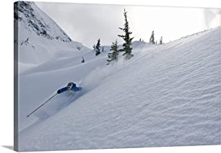 GREATBIGCANVAS Gallery-Wrapped Canvas Skier Shredding Powder Below Nak Peak, Cascade Mountains, BC, Canada by Kurt Werby 18
