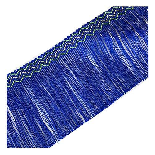 KOLIGHT 12 yards Breedte 5 inch Polyester Kleurrijke Tassel Fringe Trim Decoratie voor Latijnse Jurk Stage Kleding Lampenkap Donkerblauw