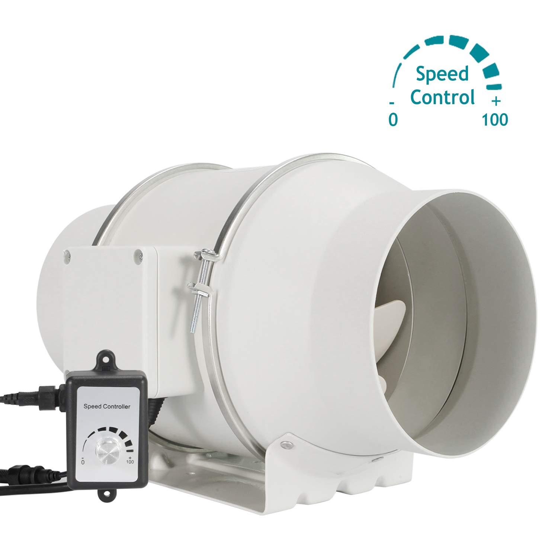 Regelbar Abluftventilator 18mm - HG POWER Stark Inline-Lüfter mit  Ventilator Drehzahlregler Energiesparend Rohrventilator Leise  Kanalventilator