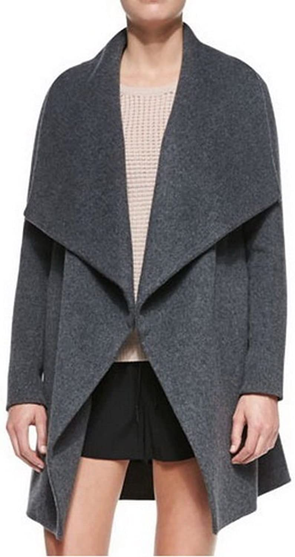 Angel&Lily LeatherTrim Asymmetric Car Coat Wool Blend JY006 Plus 1x10x