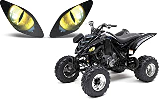 AMR Racing ATV Headlight Eye Graphic Decal Cover for Yamaha Raptor 660 01-05 (Eclipse Yellow)