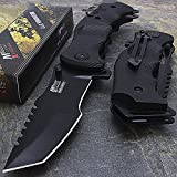 9' M-Tech G10 Tracker Spring Assisted Open Folding Pocket Outdor Knife...