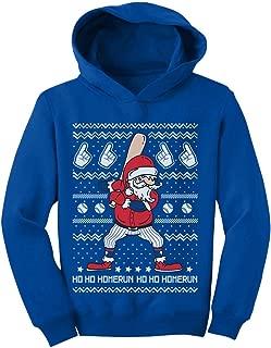 Tstars Ho Ho Home Run Santa Claus Baseball Player Ugly Christmas Toddler Hoodie