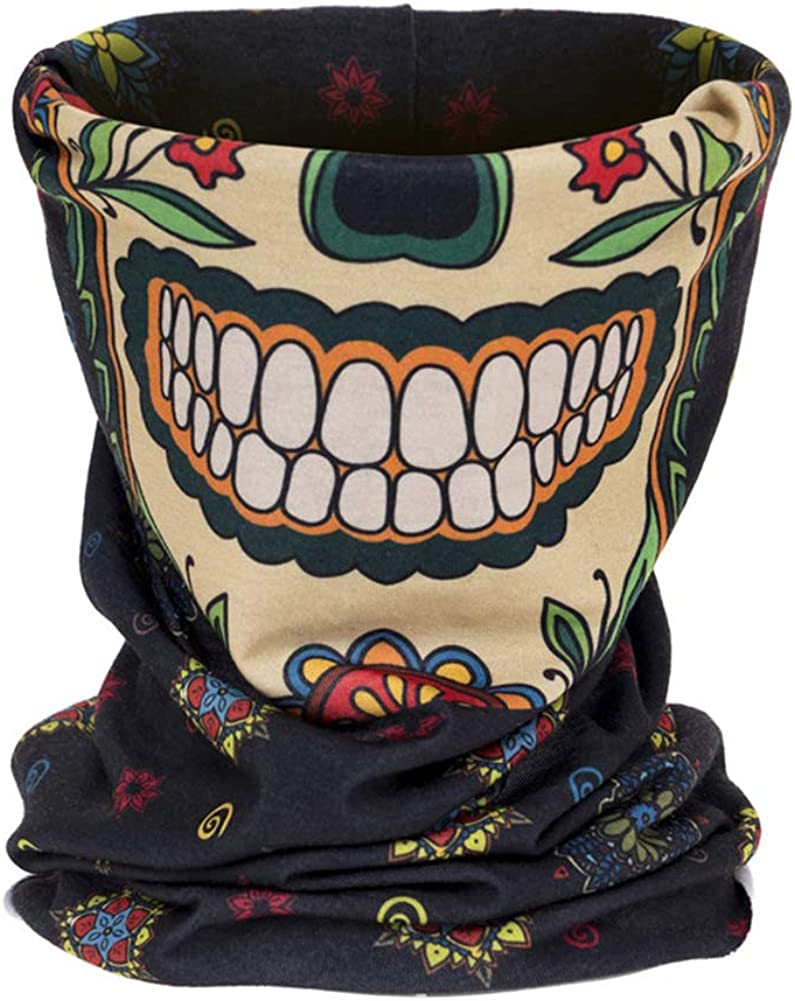 Neck Gaiter Scarf Elastic Bandana Cooling Breathe Freely Washable Face Mask for Men and Women