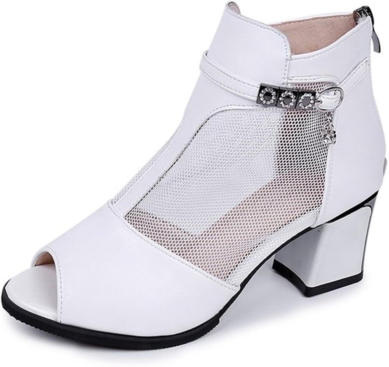 SUNNY Store High Heel Platform Peep Toe Pumps - Faux Leather Open Toe Fashion Pumps