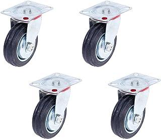 Alsino 4-delige set 100 mm bestuurbare wielen transportwielen 4x zwenkwielen