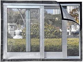 BASHI Transparant raamnet, muggen- en insectenbescherming raamnet, aluminium raamgaas, taai anti-rimpel raamnet met zelfkl...