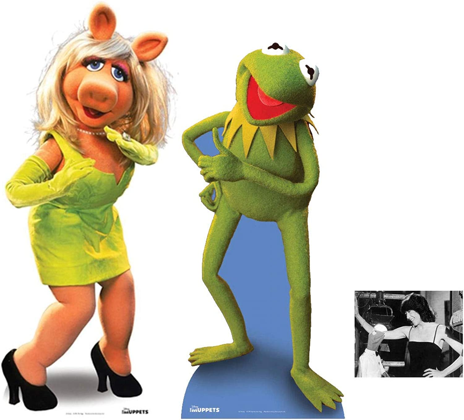 FAN PACK  Kermit and Miss Piggy (The Muppets) LIFESIZE CARDBOARD CUTOUT (STANDEE   STANDUP)  INCLUDES 8X10 (25X20CM) STAR PHOTO  FAN PACK  313