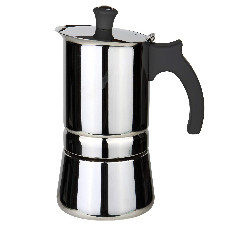 Rosseto - Cafetera italiana de inducción de acero inoxidable con asa, color gris, Cafetière de 6 tasses + 2 Tasses de Expresso Bleu: Amazon.es: Hogar