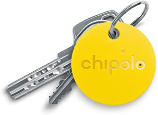Chipolo Classic Bluetooth Key Finder and Phone Finder, 92dB Alarm Sound, 200ft Work Range, Replaceable Battery Smart Key Tracker Locator - Yellow