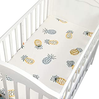 Bassinet Pad Cover 100% Cotton Soft Baby Bed Mattress Cover Protector Cartoon Newborn Bedding for Cot 130X70Cm - Cosleeper Sheets Fitted - Newborn Cradle Bedding Set