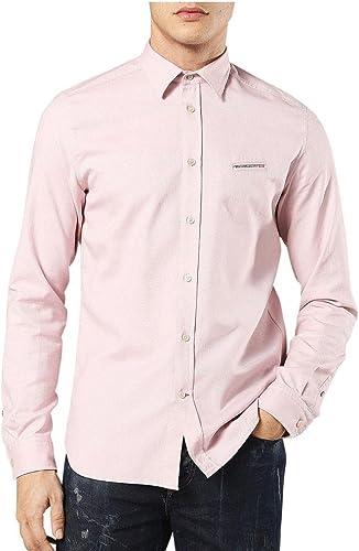 Diesel Hommes harras L s Shirt Rose Pastel