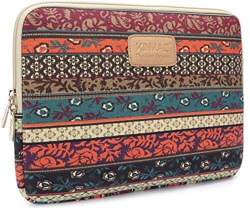 Kinmac New Bohemian Canvas Fabric 13 Inch Laptop Sleeve for Macbook Pro 13 / Macbook Air 13 / Macbook Case and for 13.3 Inch Dell/Hp/Lenovo/sony/Toshiba/Ausa/Acer/Samsun Ultrabook Bag Cover