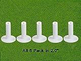 FINGER TEN Golf Rubber Tee Driving Range Value 5 Pack for Indoor Outdoor Practice Mat, Tee...