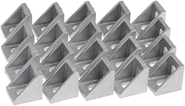 Noblik S/érie 2020 Connecteur de Corni/ère DExtr/émit/é 3 Voies avec Vis pour Standard 6 Mm Profil/é en Aluminium Extrud/é avec Fente en T 20 Pi/èces