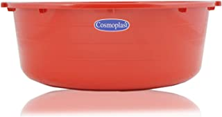 Cosmoplast Square Basin Red Plastic Bath Tub - 14 Liter