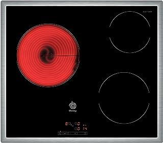 comprar comparacion Balay 3EB714XR - Placa de cocina vitrocerámica, marco de acero inoxidable, 3 zonas de cocción, control táctil, color negro...