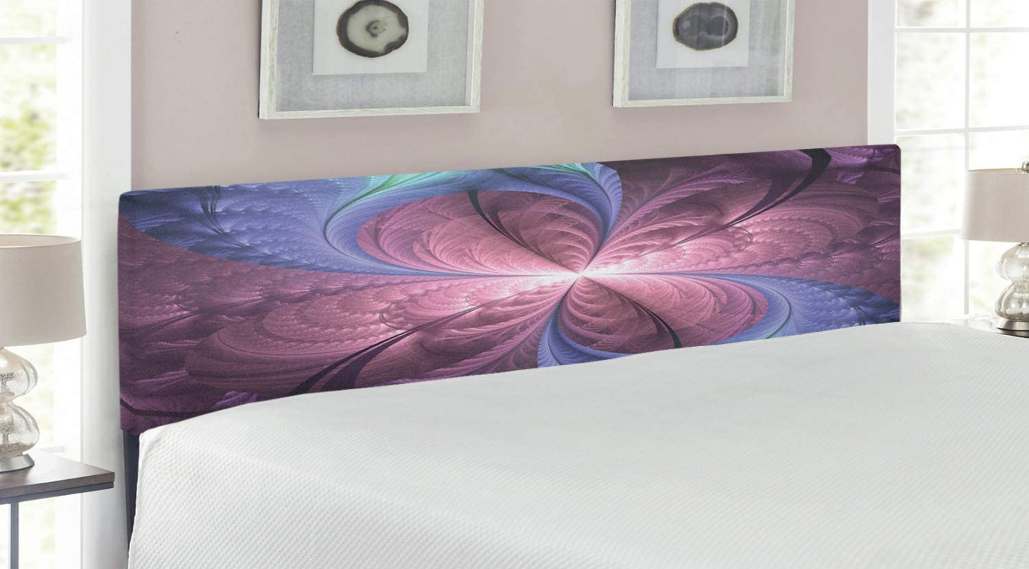 Ambesonne Trippy Brand Cheap Sale Venue Headboard Purple and Flower Blue Abstra Vortex We OFFer at cheap prices