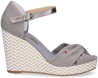 TOMMY HILFIGER Luxury Fashion Womens 1079007 Grey Wedges | Season Permanent