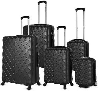 Highflyer Diamente 5 PC Hard Luggage Travel Bag Set