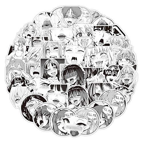 YZFCL Moda Dibujos Animados Conejito Chica Pegatina Belleza Otaku Bienestar Tendencia Maleta Graffiti Pegatina para portátil Impermeable 50 Uds