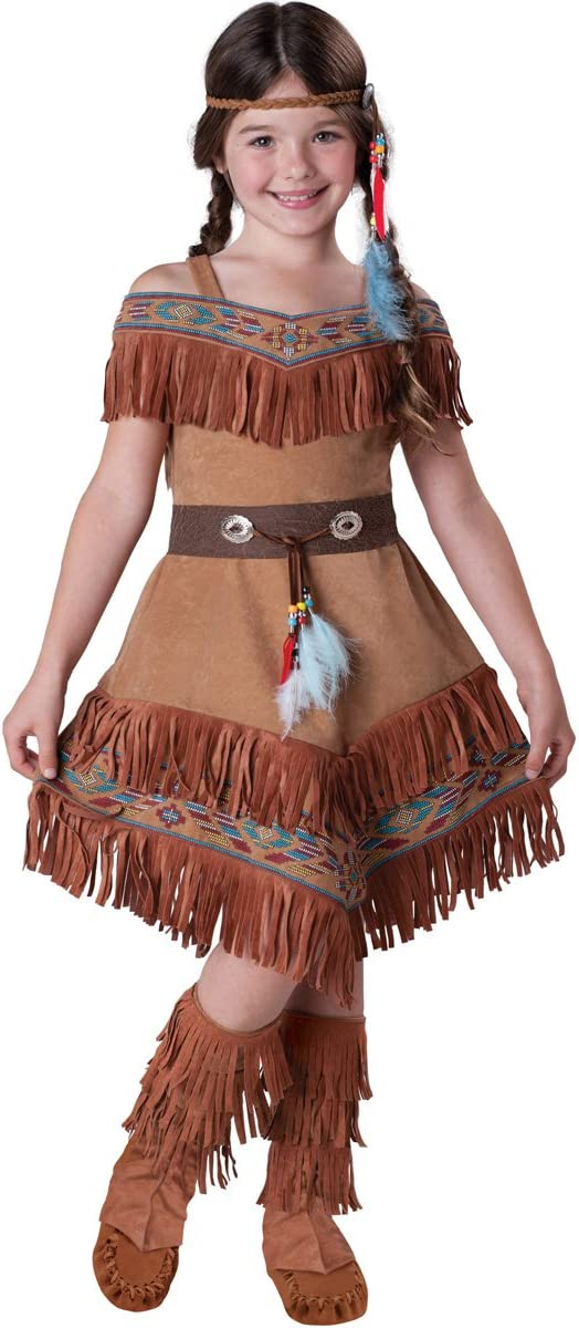 Outlet SALE InCharacter Costumes Girl's Indian 10 Tan Limited time trial price Costume Maiden