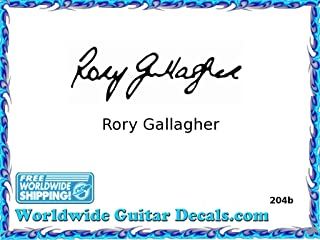 Rory Gallagher Famous guitar signature players guitar decal waterslide 204b