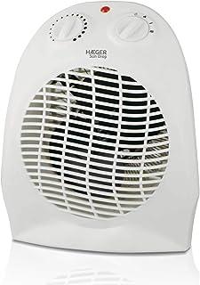 HAEGER Sun Drop - Termoventilador de 2000 W de Potencia, con Botón de selección (Off, Fan - Ventilador, I - 1000W, II - 2000W) y Termostato Regulable