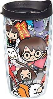 Tervis Harry Potter - Group Charms Tumbler with Wrap and Black Lid 10oz Wavy, Clear