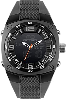 Men's Sports Analog Quartz Watch Dual Display Waterproof Digital Watches with LED Backlight relogio Masculino El Movimiento de Los relojes- Gray