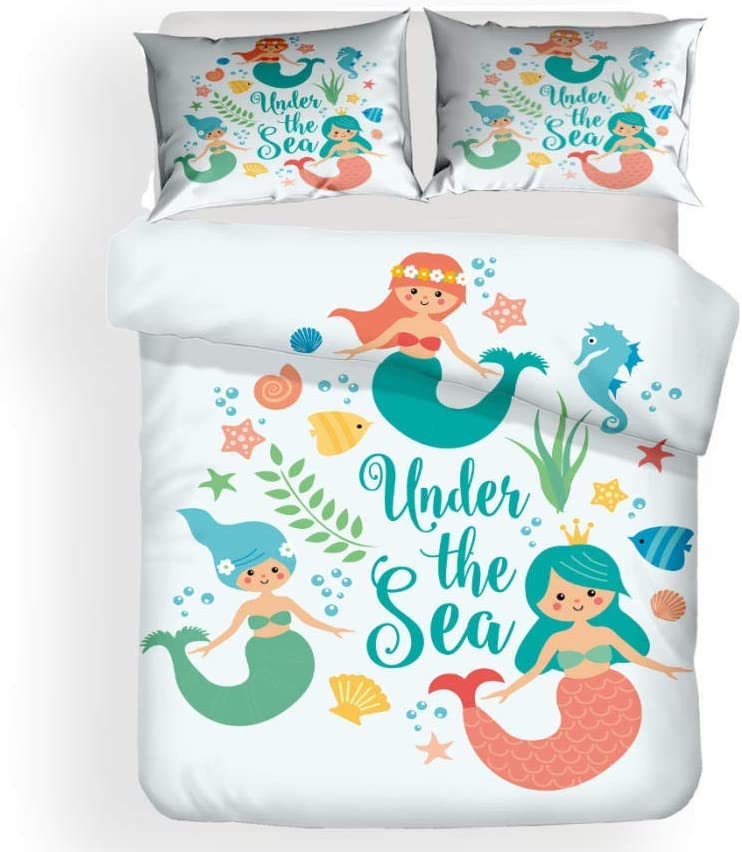 CXTU Anime Colorful Mermaid Being Set 3 Ranking TOP2 Pillow New life Sleeves Piece and