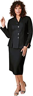 Roamans Women's Plus Size Two-Piece Skirt Suit with Shawl-Collar Jacket