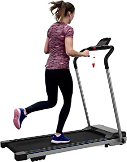 FYC Folding Treadmill for Home Electric Workout Foldable Running Machine Portable Compact Motorized Treadmills for Running and Walking Exercise Fitness, Free Installation