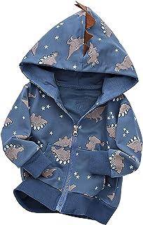 MAXIMGR Baby Boys Kid Adorable Dinosaur Hooded Coat Jacket Outwear Cute Cartoon Hoodies