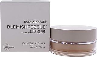 bareMinerals Blemish Rescue Skin-Clearing Loose Powder Foundation - 3N Neutral Medium For Women 0.21 oz Foundation