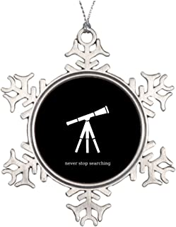 Withyouc Never Stop Searching Telescope Personalised Christmas Tree Decoration Funny Snowflake Ornaments