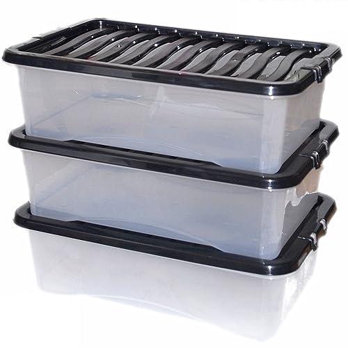 Plastic Underbed Storage Boxes Amazoncouk